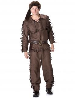 Trapper-Kostüm Fallensteller-Kostüm braun