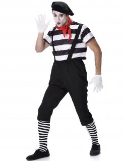Pantomime-Kostüm schwarz-weiss