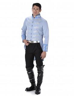 Prinzen-Herrenkostüm blau-schwarz-weiss