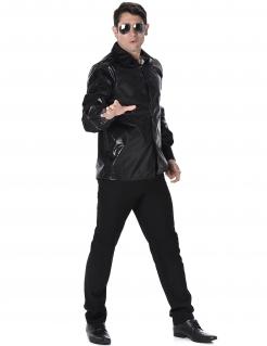 Herrenhemd Disco Kostüm-Zubehör schwarz