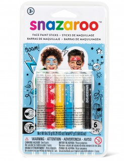 Lizenzartikel Snazaroo Schminkstifte 6 Stück bunt 47,4g