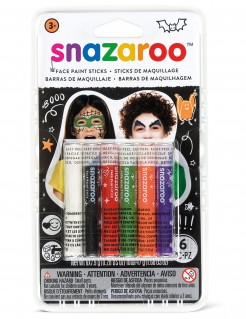 Halloween-Schminkstifte Snazaroo™-Make-up-Stifte 6 Stück bunt 47,4g
