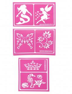 Schminkschablonen Lizenzware Snazaroo für Mädchen 6-teilig pink