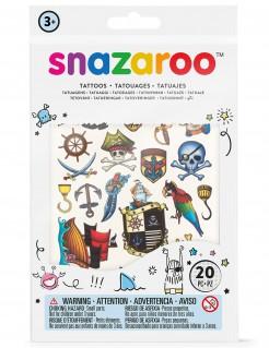Piraten Tattoos Lizenzware Snazaroo für Jungen 20-teilig bunt