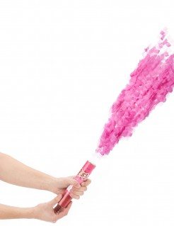 Kurze Fetzen Konfettikanone Party Bombe rosa