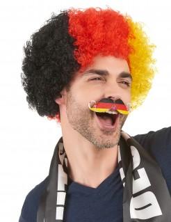 Fußball Fan Schnurrbart Deutschland schwarz-rot-gold