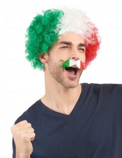 Fußball Fan Schnurrbart Italien grün-weiss-rot