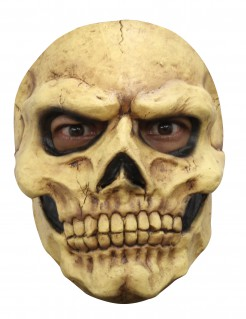 Schaurige Skelett Halloween-Maske beige