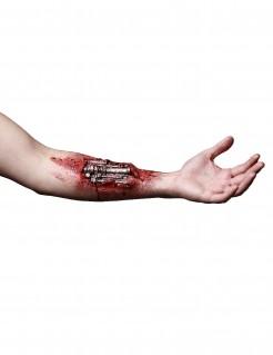 Offener Cyborg-Arm Terminator GenISys™ Latexapplikation rot