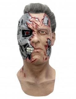 T-800 Terminator-Maske Terminator Genisys-Latexmaske hautfarbe-grau-rot
