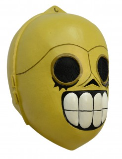 Tag der Toten Droiden-Maske Calaveritas gelb
