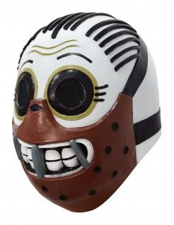 Tag der Toten Kannibalen-Maske Calaveritas weiss-schwarz