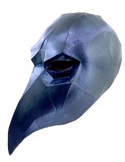 Low Poly Maske Rabenmaske schwarz