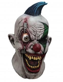 Animierte Horrorclown Maske Halloween Maske weiss-bunt