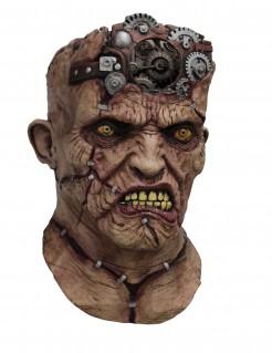 Animierte Monster Maske Ungeheuer Accessoire braun-grau-gelb