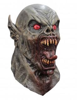 Dämon-Wasserspeier Halloween-Maske grau-rot