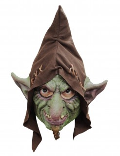 Kobold mit Hut Maske Goblin grün-braun