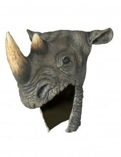 Prächtiger Nashorn-Helm für Jäger grau