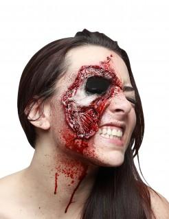 Falsche Wunde fehlendes Auge offene Haut Halloween-Makeup rot