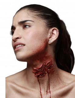 Zombie-Kratzspur Latexapplikation Halloween-Wunde rot 10,5x5cm