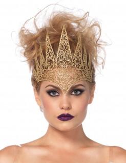 Krone der Märchenkönigin Herrscherinnenkrone gold 24x20cm