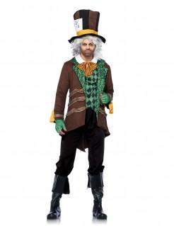 Verrückter Hutmacher Kostüm Märchen braun-grün