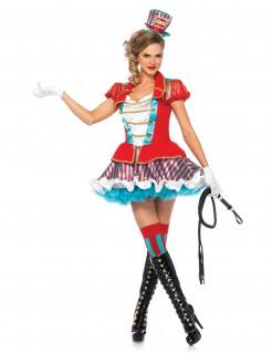 Sexy Zirkus-Direktorin Damenkostüm Dompteurin rot-blau-weiss