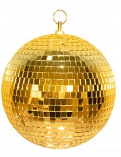 70er Jahre Party Discokugel 20cm Durchmesser gold