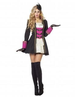 Funkenmariechen Damenkostüm Garde schwarz-pink-weiss