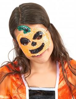 Pailletten-Kürbismaske für Kinder