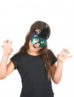 Pailletten-Hexenmaske für Kinder