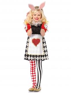 Alice-Kaninchen Kinderkostüm Märchen Hase rot-weiss-schwarz