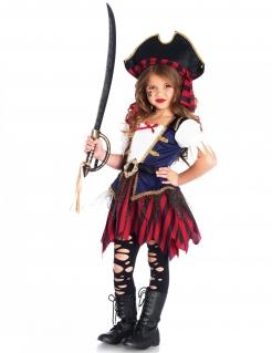 Wilde Piratin Mädchenkostüm