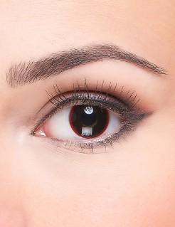 Dämon Kontaktlinsen schwarz-rot