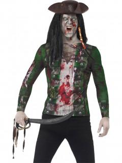 Wütender Zombie-Pirat Halloween-Shirt bunt