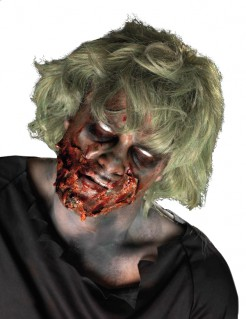 Schauriger Zombie Halloween Make-up Kit hautfarben-rot