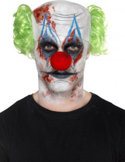 Killerclown Make-up Set für Halloween bunt