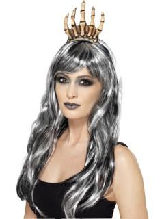 Skelett-Hand Haarreif Halloween beige