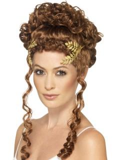 Lorbeerblatt Kopfschmuck für Damen gold