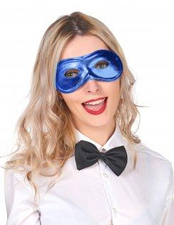 Venezianische Augenmaske Dominomaske blau