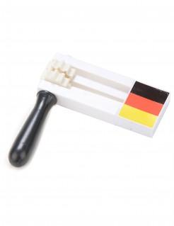 Deutschland-Schnarre Ratsche Länder-Fanartikel bunt 17x15cm