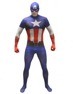 Marvel Captain America Value Morphsuit Lizenzware blau-weiss-rot