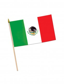 Mexiko-Flagge Fanartikel weiss-rot-grün 43x30cm