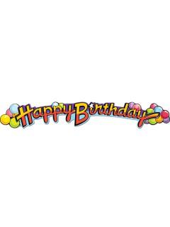 Geburtstagsparty-Girlande