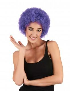 Lustige Clown Afro-Perücke lila