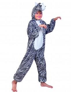 Kinderkostüm Zebra - schwarz/weiß