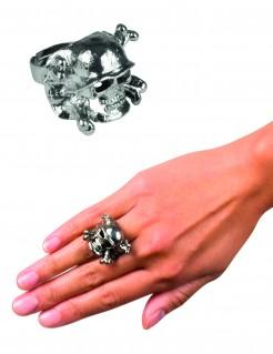 Gothic Metal Ring Riesiger Totenkopf silber