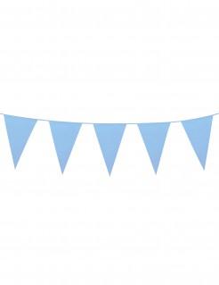 Große Wimpel-Girlande himmelblau
