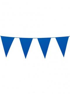 Wimpelgirlande Partygirlande blau 10m