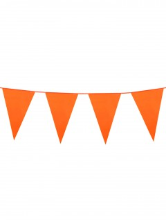 Wimpel-Girlande Party-Deko orange 10m